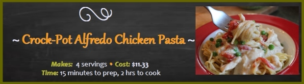 Crock Pot Alfredo Chicken Pasta