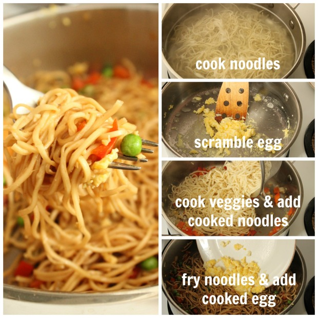 How to make Fried Vegetable Chow Mein Noodles