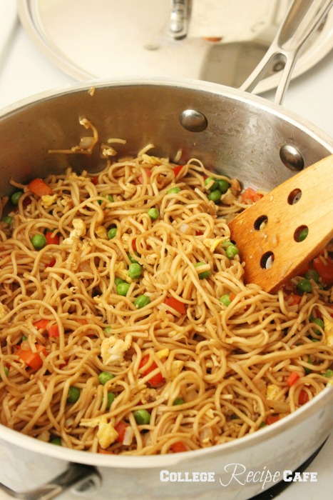 Chinese Chow Mein Noodles: College Recipe Cafe