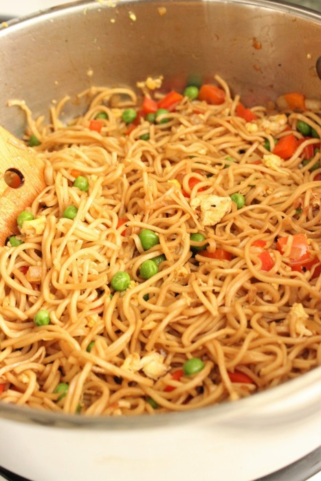 Fried Vegetable Chow Mein Noodles: College Recipe Cafe