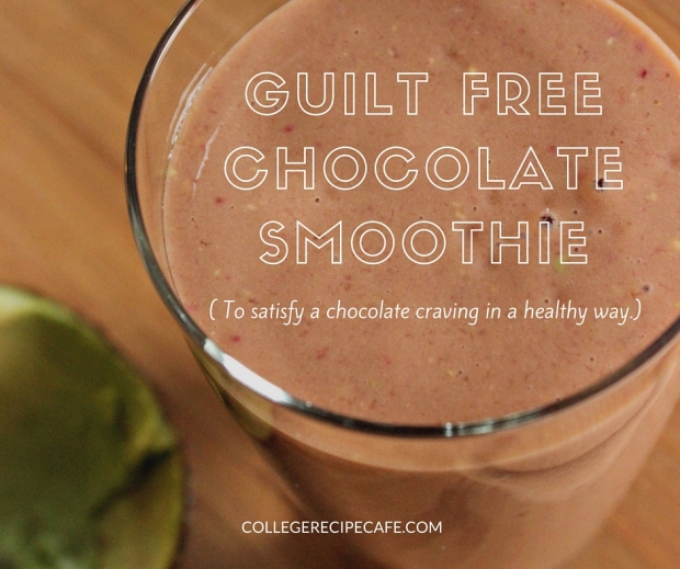 Extra Thick. Guilt Free Chocolate Smoothie