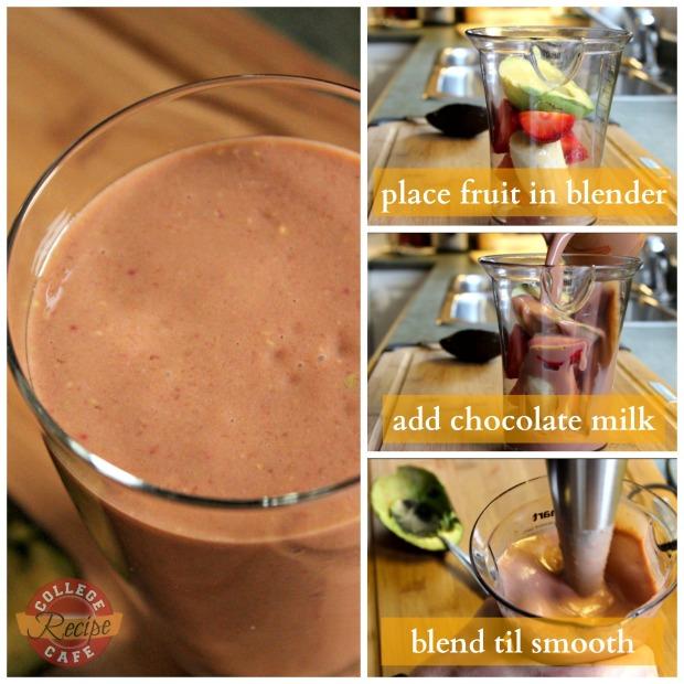 Steps to Make Extra Thick Guilt Free Chocolate Avocado Smoothie