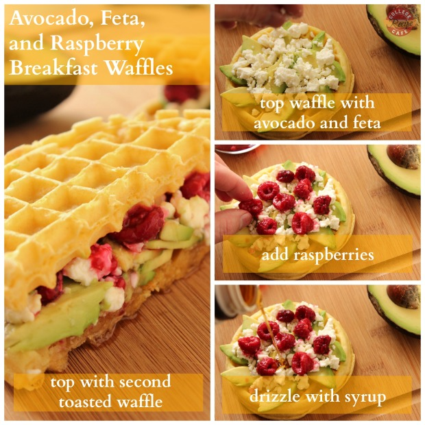 How to make Avocado and Feta Breakfast Waffles: College Recipe Cafe