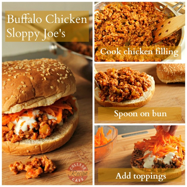 How to make Buffalo Chicken Sloppy Joes