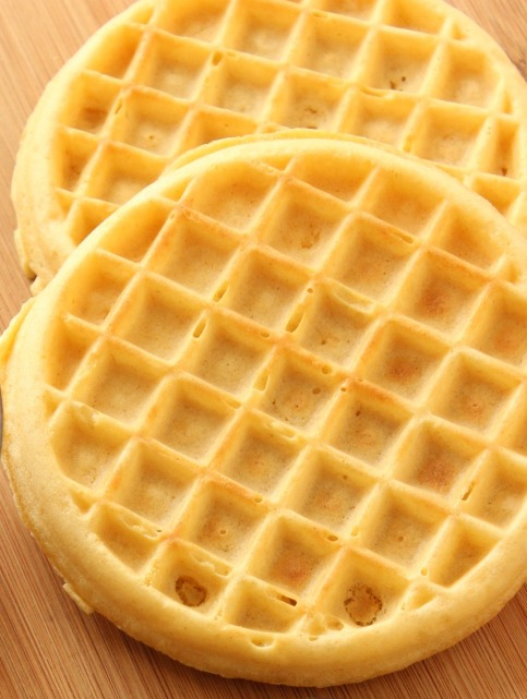 plain toasted waffles