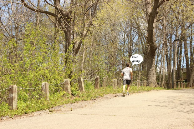 Add a pinch of self talk on your run to get past the tough sections