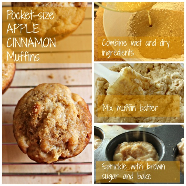 Pocket Size Cinnamon Apple Muffins