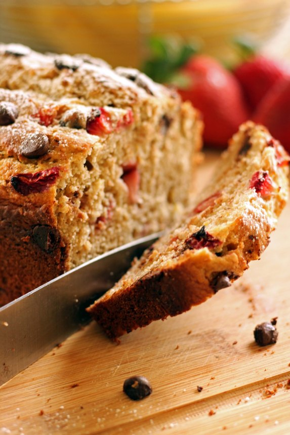 Strawberry-Chocolate Banana Bread: Sweet: Grandma-style banana bread that requires no special powers or skills to bake.
