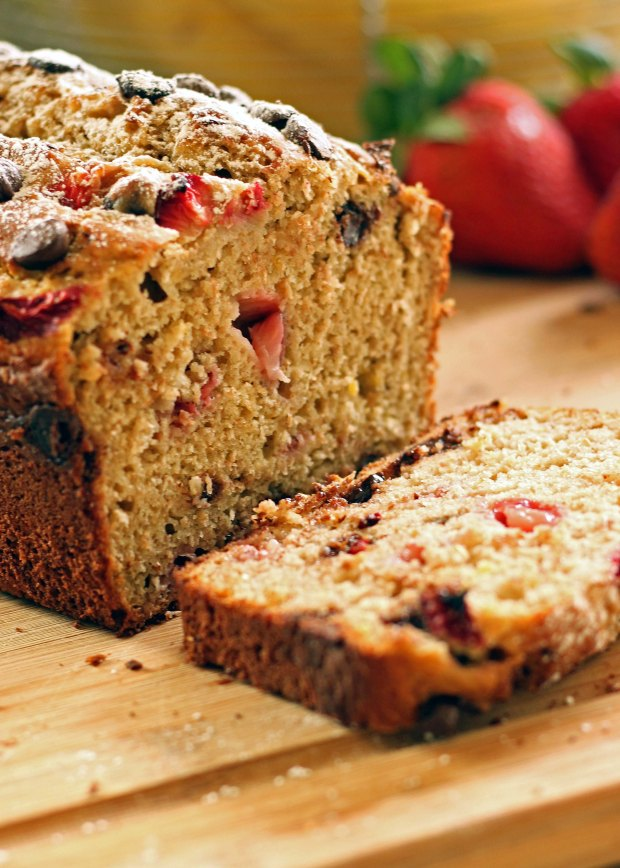 This Strawberry-Chocolate Banana Bread makes it totally okay to eat dessert for breakfast!