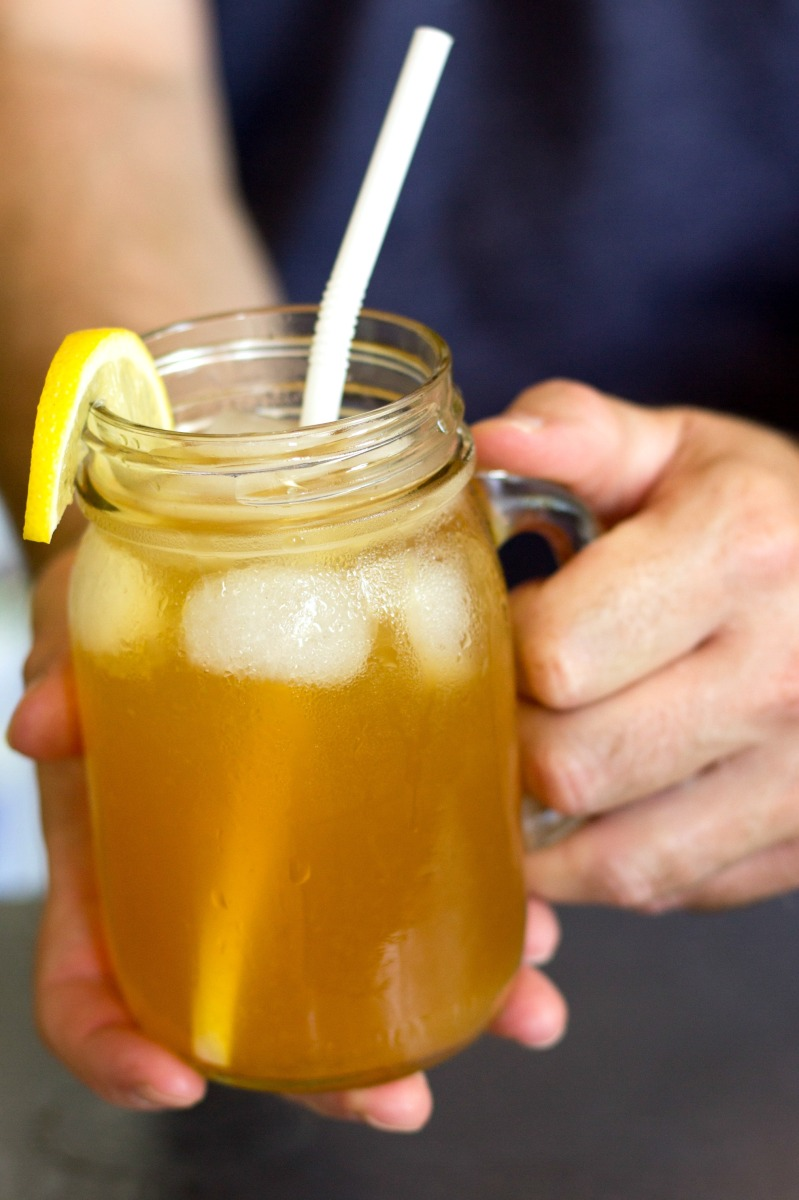 Ice Cold Ginger Mint Iced Tea: Ready