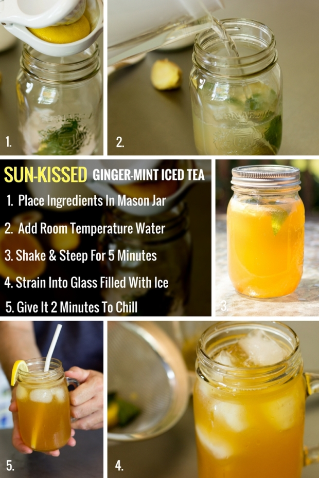 SUN-KISSED GINGER MINT ICED TEA: STEP-BY-STEP