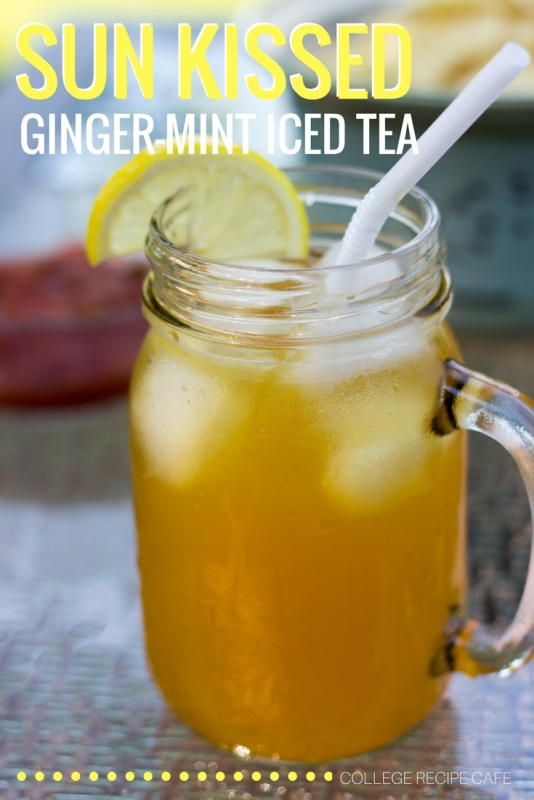 Ginger Mint Iced Tea: Steeped Under the Sun!