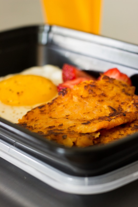 Sweet Potato Hash Browns to Go!