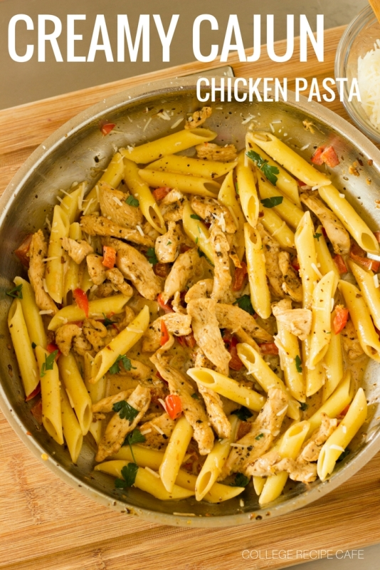 Creamy Cajun Chicken Past: Post Workout Recovery Meal